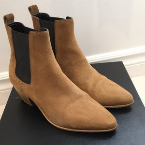 Saint Laurent Paris Tan Chelsea Boots Size 36.5